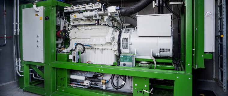 Blockheizkraftwerk der Firma Honebein in Luhden
