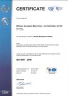 Zertifikat DIN ISO 9001:2008