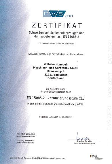 Zertifikat: Schweißen-von-Schienenfahrzeuge-und-Fahrzeugteilen-nach-EN-15085-2